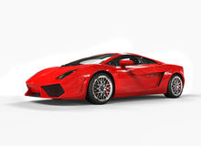 Bright Red Supercar Stock Image