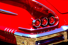 Bright red tail lights Stock Image