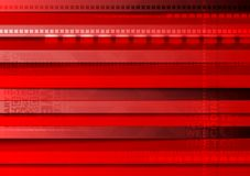 Bright red tech vector background Stock Image