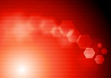 Bright red tech vector design Stock Image