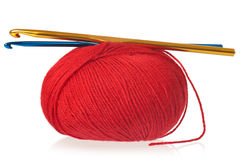 Bright red threads Royalty Free Stock Image