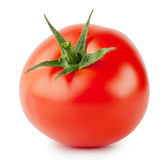 Bright red tomato with handle Stock Images
