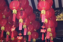 Bright red traditional Chinese lanterns, Singapore Royalty Free Stock Image