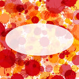 Bright red watercolor ellipse frame Royalty Free Stock Photos