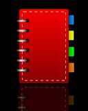 Bright red weekly on a black background Royalty Free Stock Images
