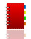 Bright red weekly on a white background Royalty Free Stock Photography