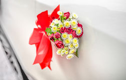 Bright red-white wedding bouqet Royalty Free Stock Photo