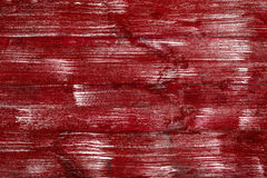 Bright red wooden boards with a texture for the background. Horizontal frame Royalty Free Stock Images