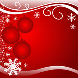 Bright red xmas Background with Balls. Stock Photography