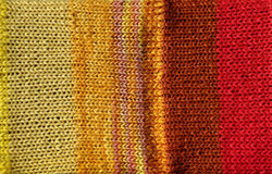 Bright red and yellow crochet stitch background Royalty Free Stock Image