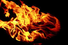 Bright red yellow fire Royalty Free Stock Image