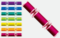 Bright retro Christmas crackers Royalty Free Stock Photos