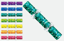 Bright retro Christmas crackers. In vector format Stock Photo