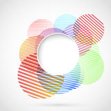 Bright retro circle design element Stock Images