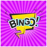 Bright retro comic speech bubble with Bingo text Royalty Free Stock Images
