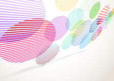 Bright retro striped circles fly background Royalty Free Stock Image