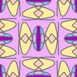 Bright retro stylized seamless pattern Stock Photography