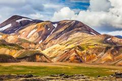 Bright rhyolite mountains stock photo