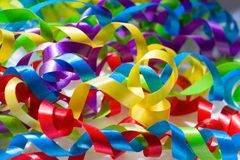 Bright Ribbons of Color Stock Photos