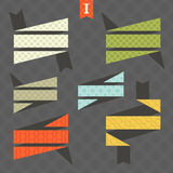 Bright ribbons. Set of ribbons with patterned backgrounds Stock Image