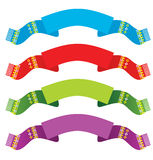 Bright ribbons set Royalty Free Stock Images