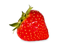 Bright ripe strawberry isolated Stock Photos