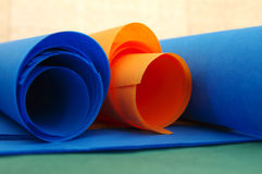 Bright rolls of color paper Stock Image