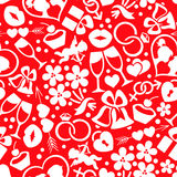Bright romantic seamless pattern Royalty Free Stock Photos