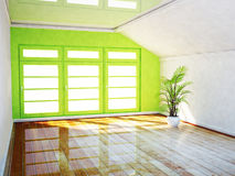 Bright room with  the big window Stock Photography