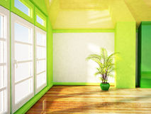 A bright room with the big window Royalty Free Stock Photo