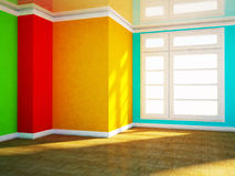 Bright room with the window Stock Images