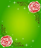 Bright rose frame Stock Image