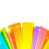 Bright round abstract background bottom Stock Images