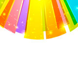 Bright round abstract background top. Bright rays round abstract vector background. With space for text Royalty Free Stock Photography
