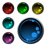 Bright round buttons Royalty Free Stock Photos