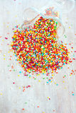 Bright round coloured small candy Royalty Free Stock Photo