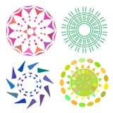 Bright round set. Creative figure business company logo. Vector illustration Stock Photos