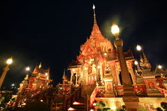 Bright royal funeral pyre of Thai princess Royalty Free Stock Photography