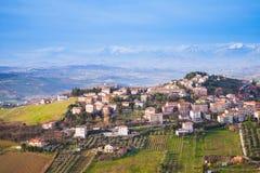Bright rural panorama of Italian countryside Stock Photos