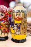 Bright Russian Matrushka puzzle Dolls Royalty Free Stock Photography
