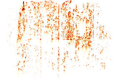 Bright rust stains texture isolated on white Royalty Free Stock Images