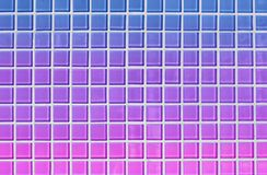 Bright 80s style blue, purple and pink abstract square tile background vector illustration