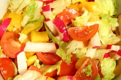 Bright salad. Diet food. background Stock Photos