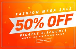 Bright sale banner design vector template for your promotion Stock Images