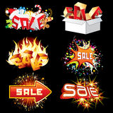 Bright Sale Tags and Icons. Ready for Design. Bright Sale Tags and Icons. Ready for Your Design stock illustration