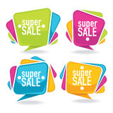 Bright sales labels Stock Image