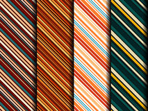 Bright sample of seamless fabrics. Four bright sample of seamless fabrics similar to men's ties. Can be used as background for web design or greeting gift Royalty Free Stock Photography