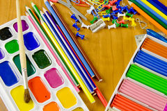 Bright school belonging, office commodities Royalty Free Stock Image