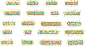 Bright science words vector illustration