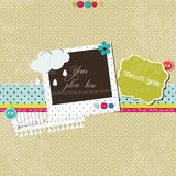 Bright scrap template royalty free illustration